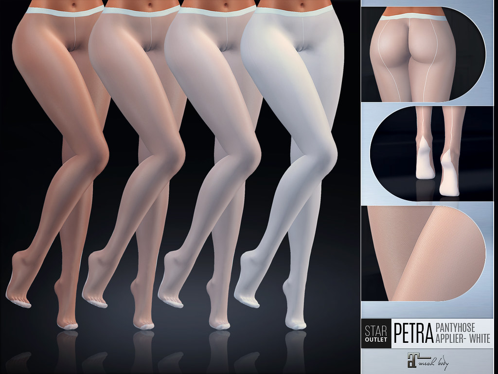 Star Outlet Pantyhose Petra White – Maitreya Applier (4 in pack in differnt denier)