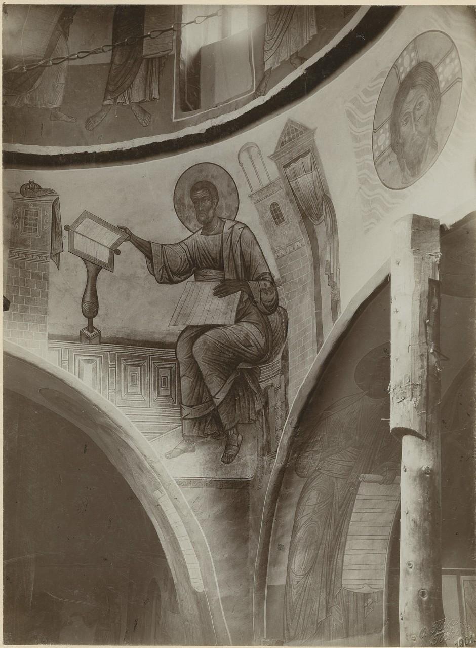 Фрески  «Евангелист Марк» Спасо-Преображенского собора Мирожского монастыря