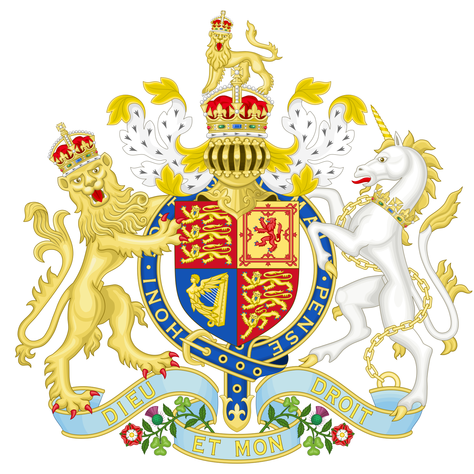 Coat of arms of the United Kingdom, 1837-1952