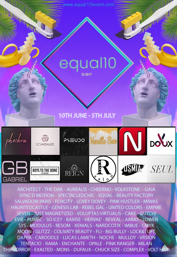 equal10 - Monthly Shopping Event in Second Life // july 10th - TeleportHub.com Live!