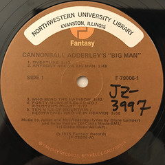 CANNONBALL ADDERLEY:BIG MAN - THE LEGEND OF JOHN HENRY(LABEL SIDE-A)