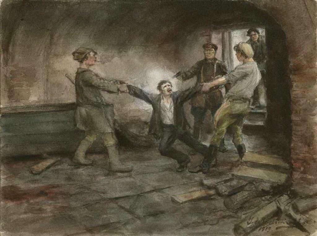 俄国内战与革命的写实绘画15
