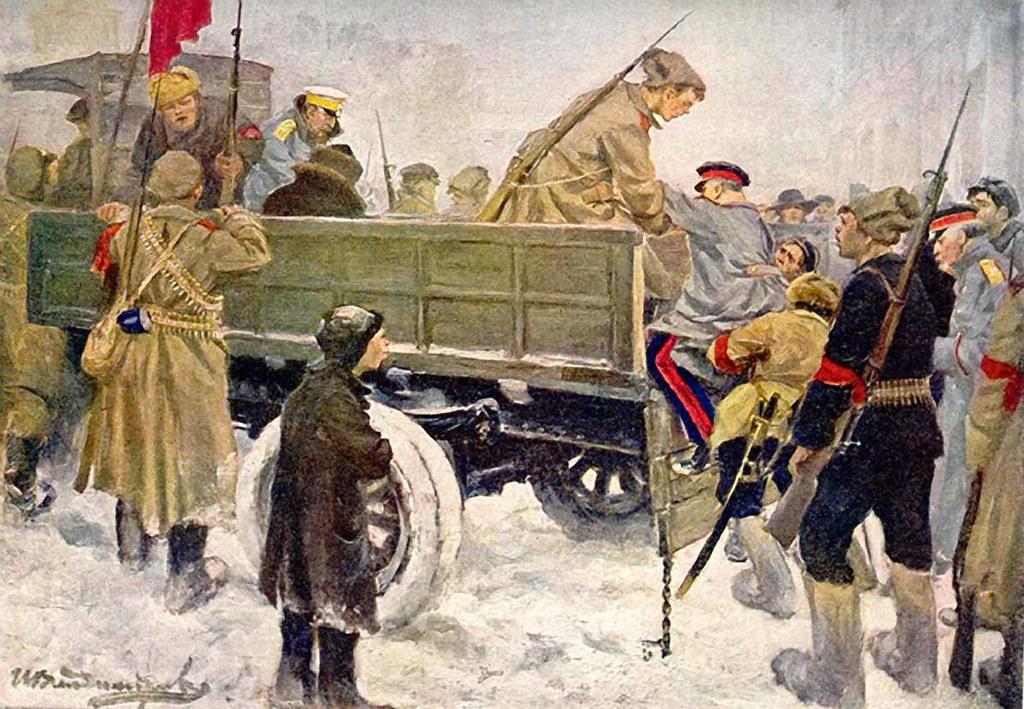 俄国内战与革命的写实绘画04