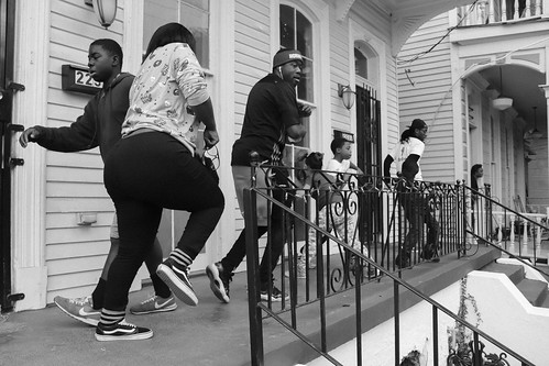 Second Line Front Porch Dance Party. Photo by Jamell Tate.