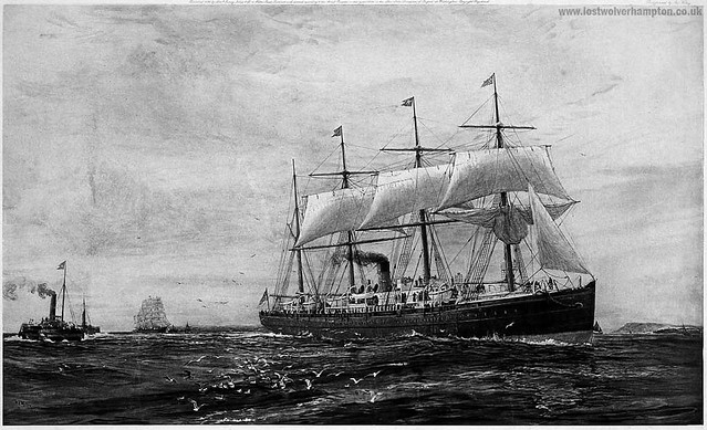 The Oceanic regularly sailed the Liverpool to New York City for the White Star line until 11th March 1875, when she was chartered for service in the Pacific.