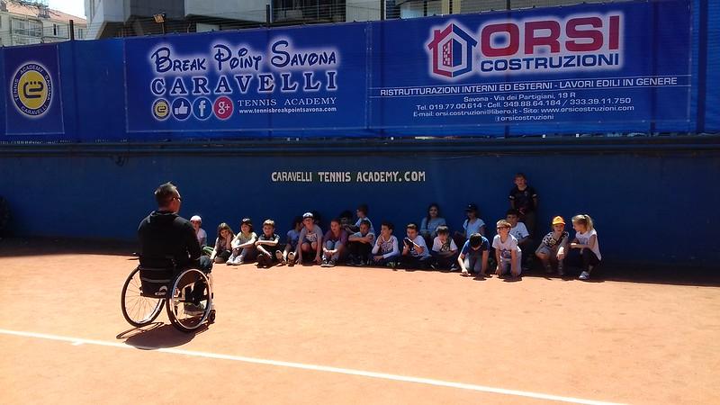 Progetto tennis/testimonianza. Classe IV a.s. 2017/8