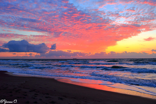 cocoabeach florida brevardcounty sunrise sky clouds waves landscape seascape beach nature