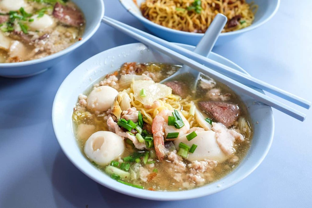 amoy street food centre Ah Ter Teochew Fishball Noodles