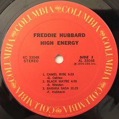 FREDDIE HUBBARD:HIGH ENERGY(LABEL SIDE-A)