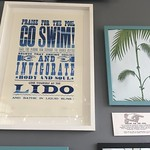 Great Lido poster @ Brockwell Lido cafe