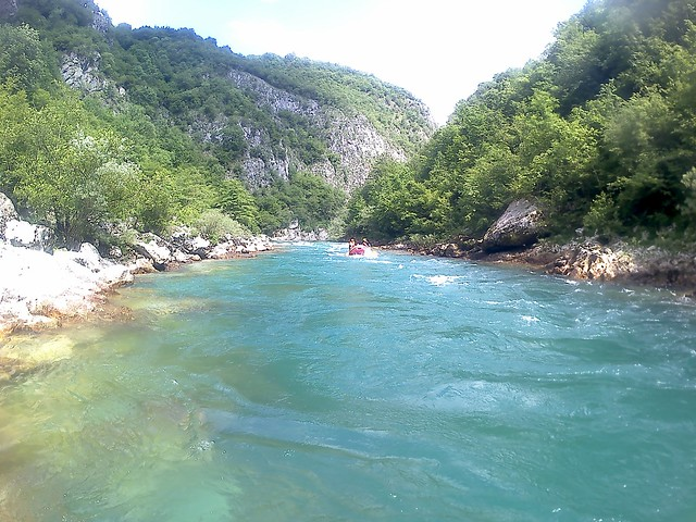 Rapids on the Neretva river