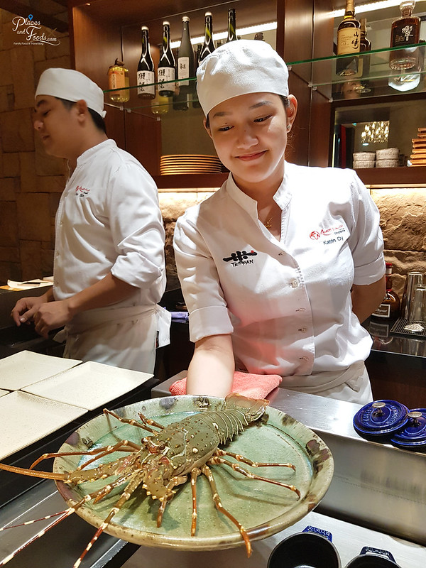 teppan by chef yonemura live lobster