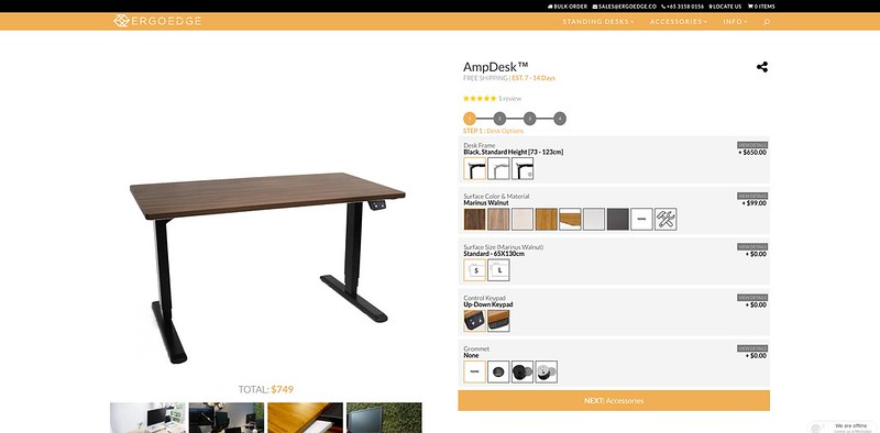 ErgoEdge - AmpDesk - Desk Options