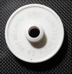 Garrard Record Adaptor White