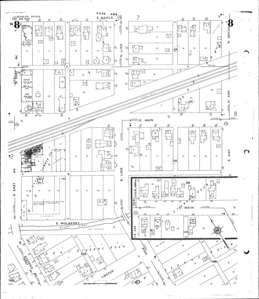 Deshler Ohio Map.Deshler Ohio E R Lytle Lumber Model Railroader Magazine Model