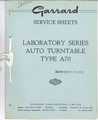 Garrard TechEng Service Manual Type A70