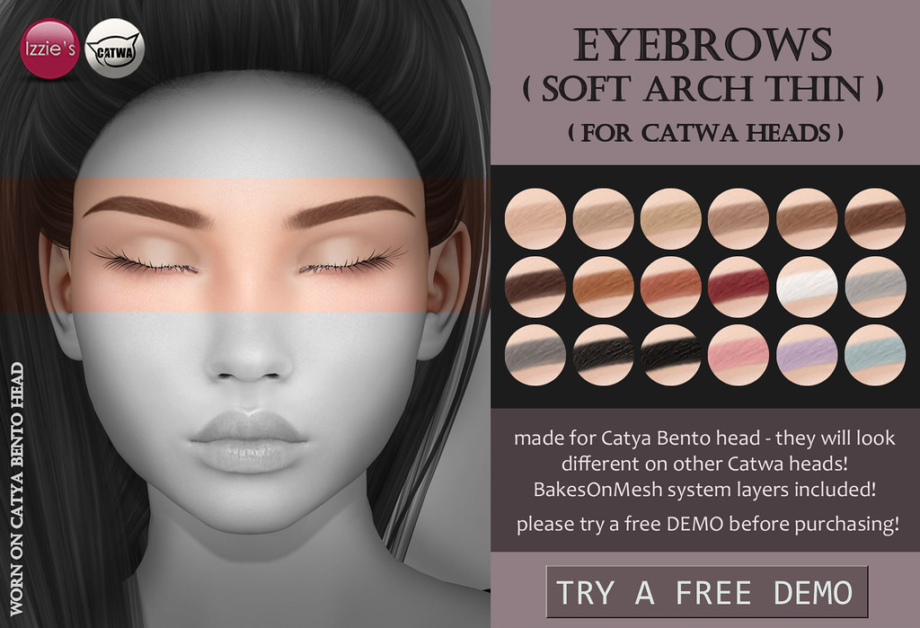 Catwa Eyebrows soft arch thin - TeleportHub.com Live!