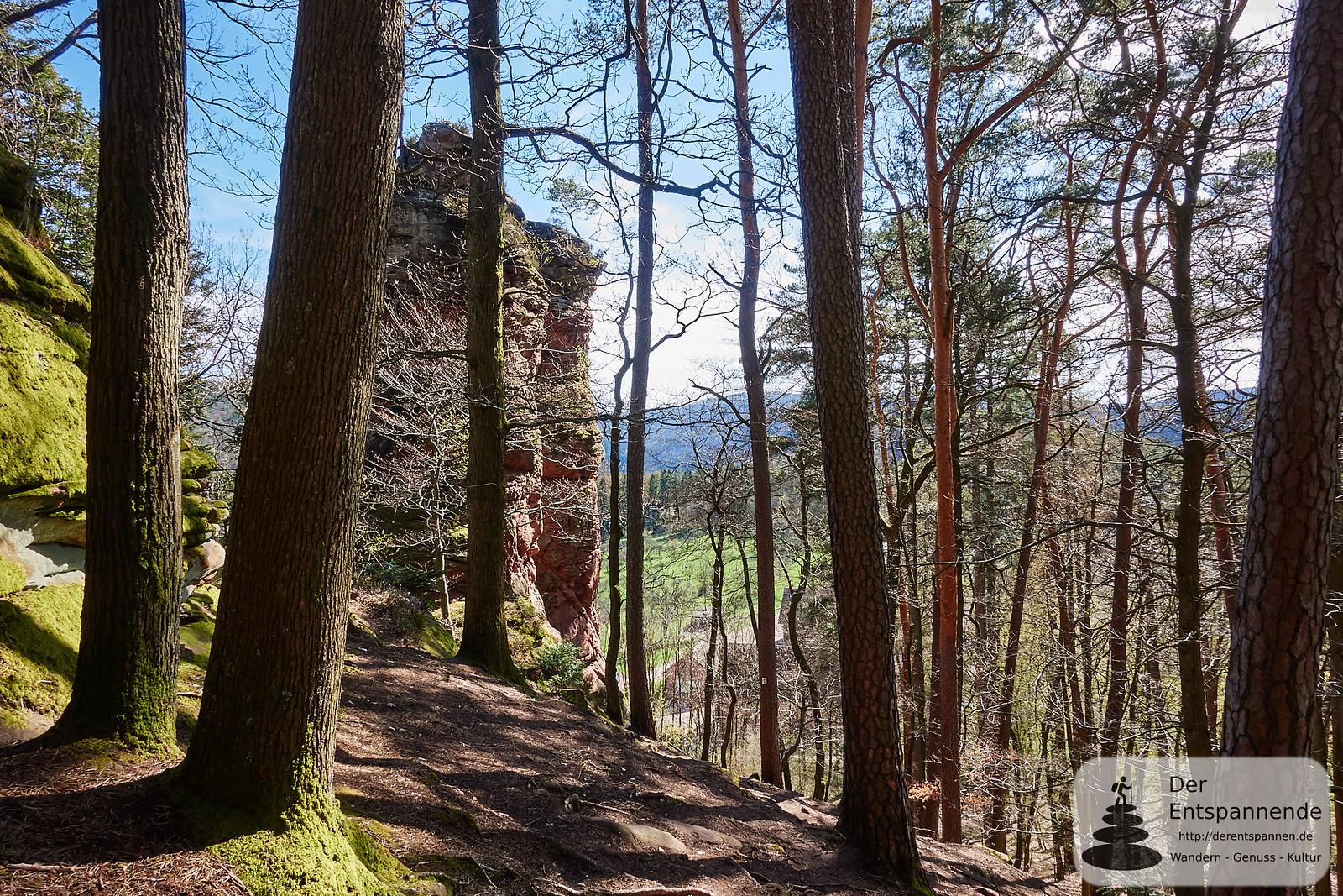Kurz vor Ruine Fleckenstein