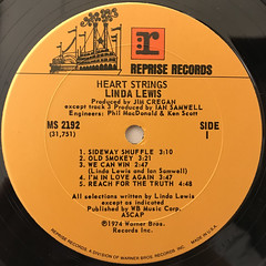 LINDA LEWIS:HEART STRINGS(LABEL SIDE-A)