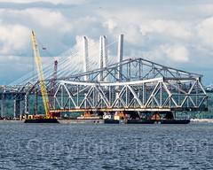 Separated Center Span of original Tappan Zee Bridge, Tarrytown, New York
