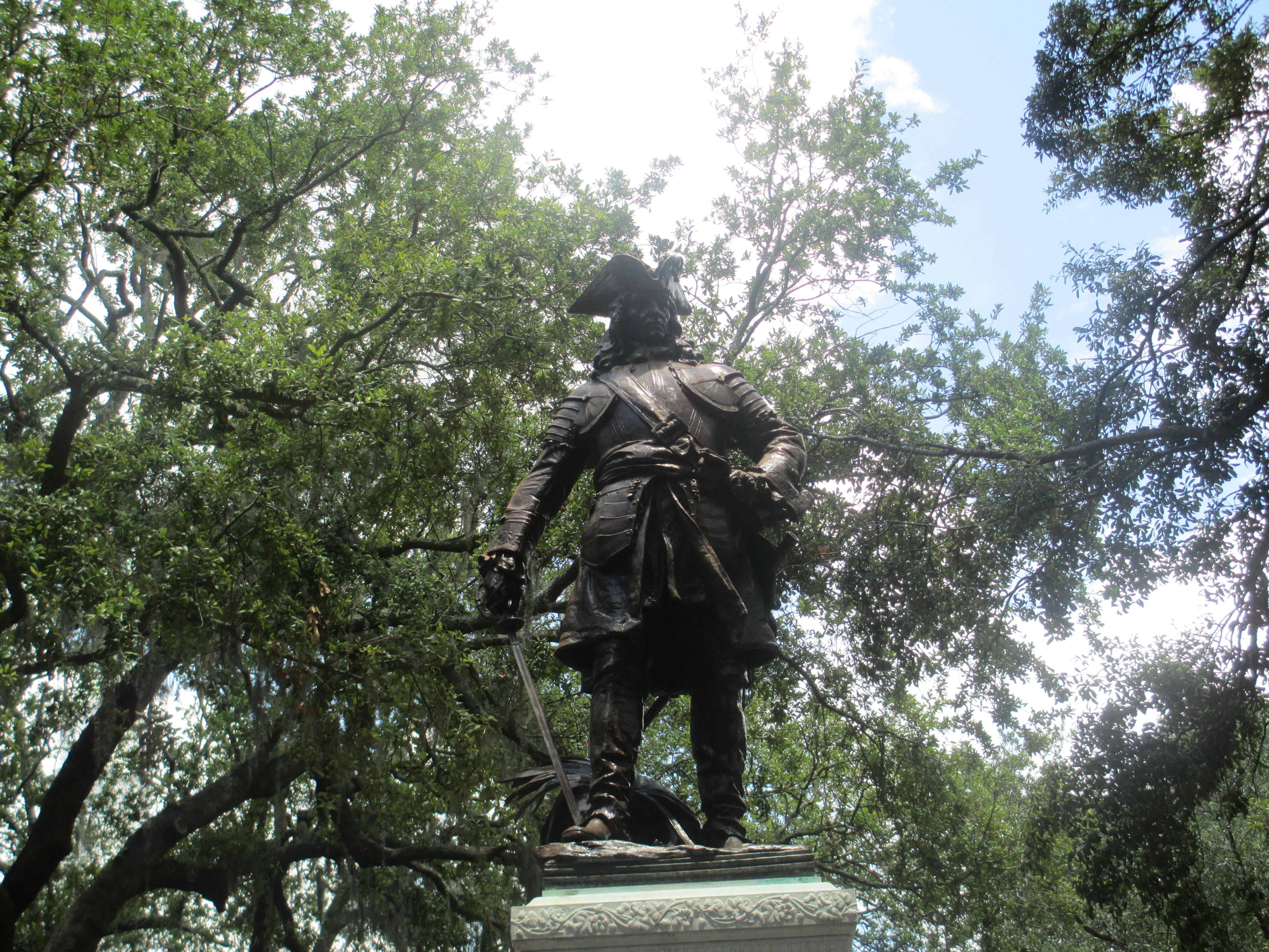 Photo of James Oglethorpe in Savannah, Georgia. Photo taken on June 18, 2012.