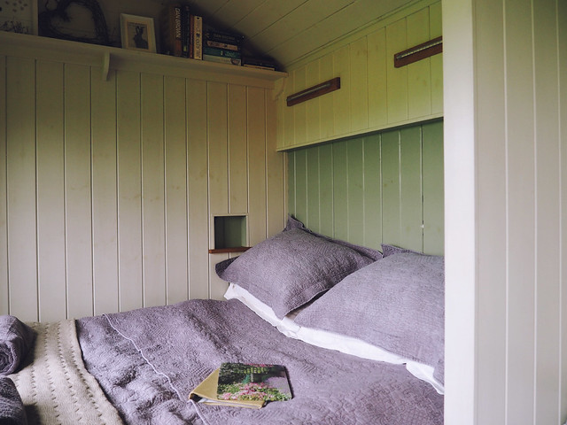 Plankbridge Shepherd's Hut, Colber Farm Happy Hare, canopy and stars, being little bristol travel lifestyle blog blogger lyzi cosy bed