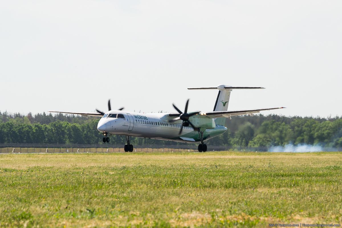 De Havilland Canada DHC-8-400 LN-WDJ норвежской авиакомпании Wideroe