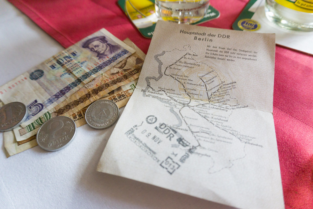 Currency and Visa from East Berlin - AirBnB Experience - Walking Tour with a Journalist to Discover East Berlin, March 2018