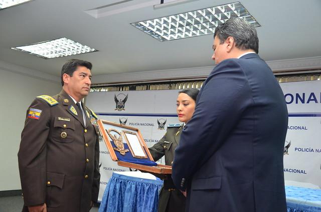 NELSON VILLEGAS, POSESIONADO OFICIALMENTE COMO COMANDANTE GENERAL DE LA POLICÍA NACIONAL DEL ECUADOR