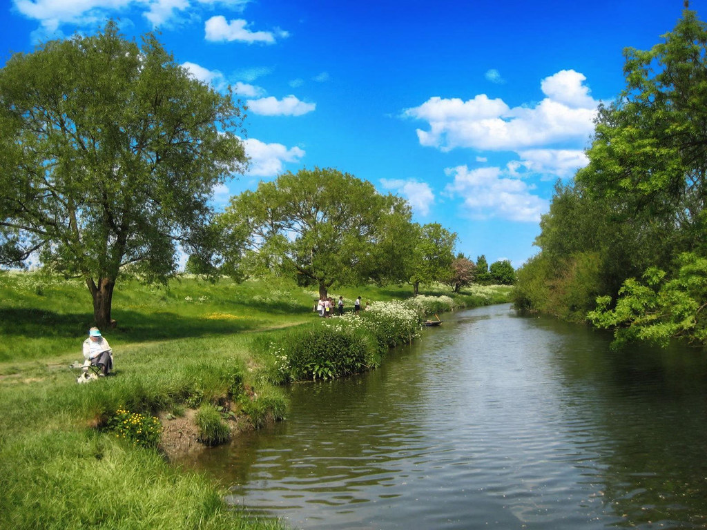 The banks of the River Cam at Grantchester, Cambridgeshire