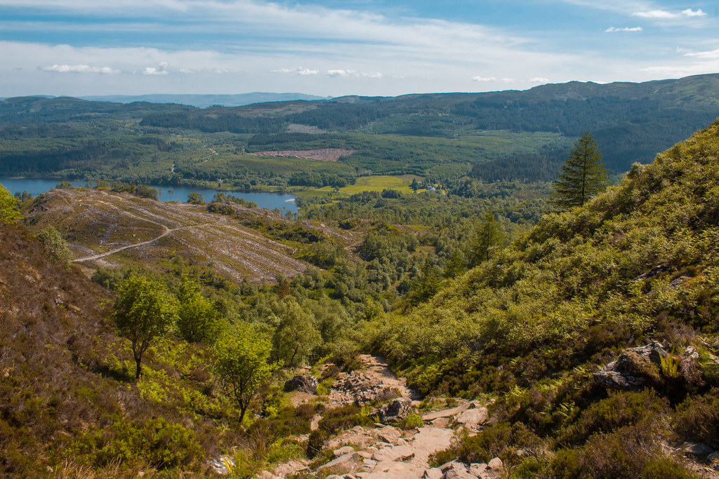 View over Loch Achray from the Ben A'an trail