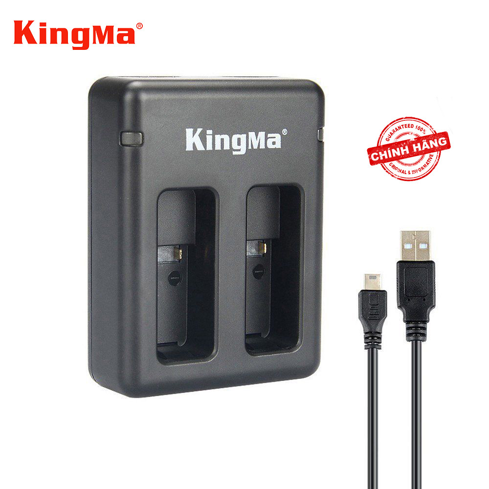 01 Sạc pin đôi nhanh KingMa cho pin GoPro 6 5_Kèm cáp sạc