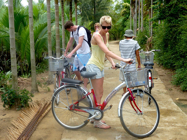 Cycle tours are popular just out of Hoi An, along the Thu Bon River