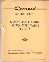 Garrard TechEng Service Manual Type A