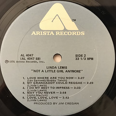 LINDA LEWIS:NOT A LITTLE GIRL ANYMORE(LABEL SIDE-B)