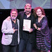 Winner of BEST MALE PERFORMANCE for Robert Jack as Berenger in RHINOCEROS accepted by Director Murat Daltaban and Musical Director Oguz Kaplangi. Photo credit Perth Picture Agency.