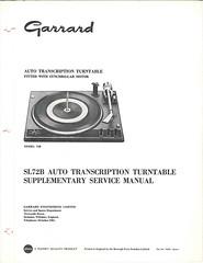 Garrard TechEng Service Manual SL72B