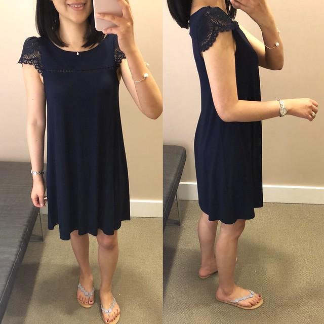 LOFT Lace Cap Sleeve Swing Dress, size XSP