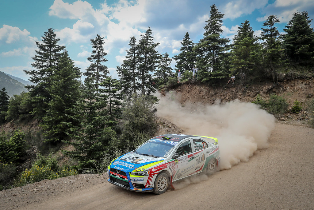 19 ERDI jr  TIBOR (hun), PAPP Gyorgy (hun), Mitsubishi Lancer EVO X, action during the European Rally Championship 2018 - Acropolis Rally Of Grece, June 1 to 3 at Lamia - Photo Alexandre Guillaumot / DPPI