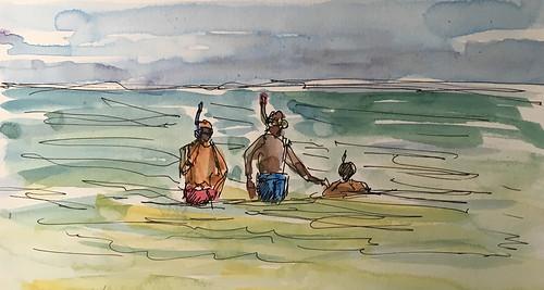 180526 Snorkelers Anini Beach