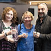 Critics' Awards for Theatre in Scotland at Perth Theatre, presenter actress Blythe Duff pictured with Zinnie Harris Playwright/Director and Murat Daltaban Director of Rhinoceros. Photo credit Perth Picture Agency.