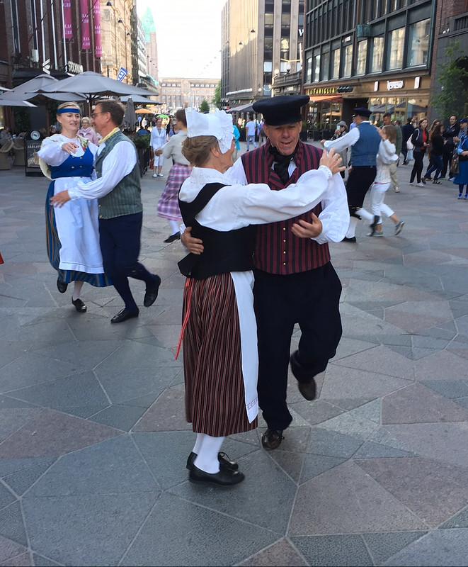 Folk dance in Helsinki