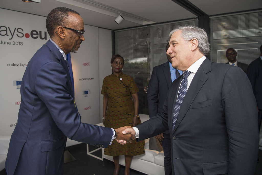 President Kagame meets with Antonio Tajani, President of the European Parliament | Brussels, 5 June 2018