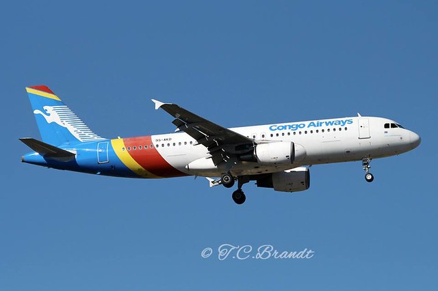 Congo Airways A320-216 9S-AKD
