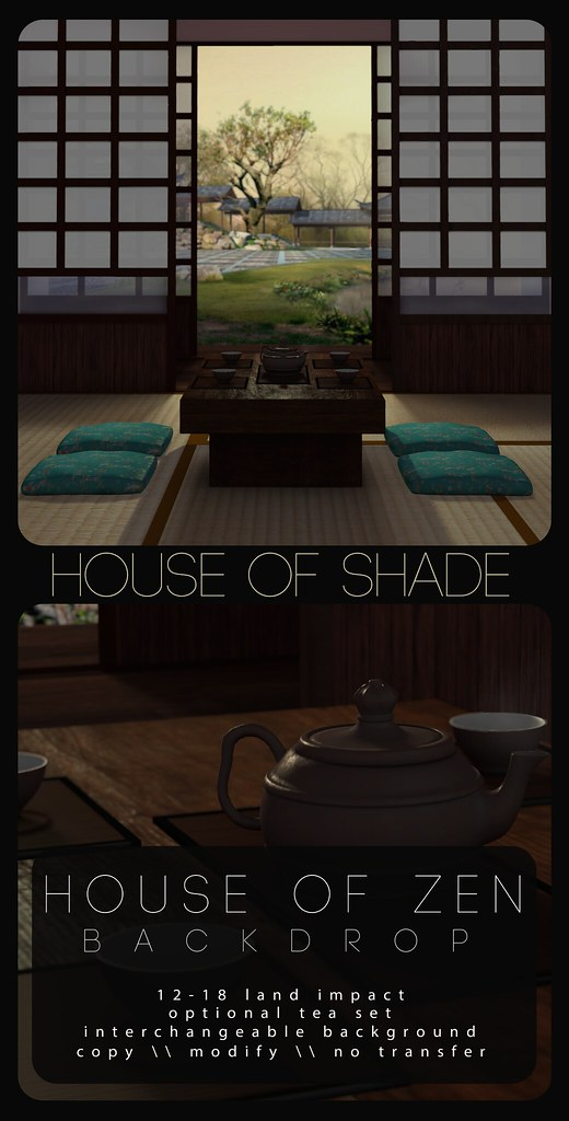 House of Shade - House of Zen backdrop - TeleportHub.com Live!