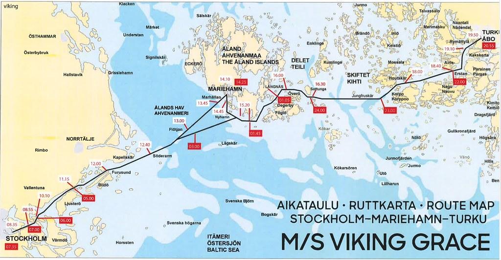 Viking-Grace-reittikartta-aikataulu