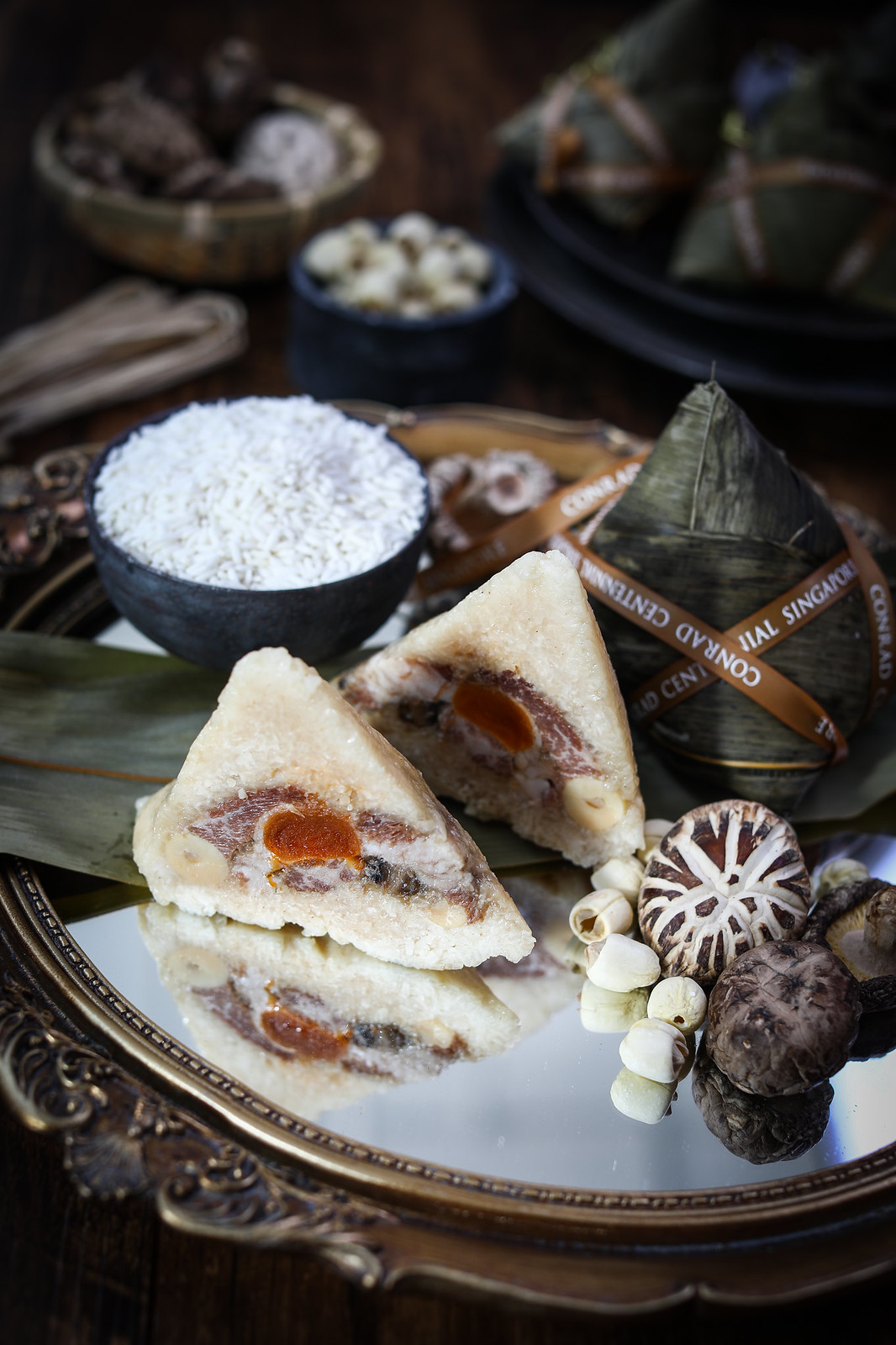 'golden peony Gou Bu Li' Rice Dumpling with Iberico Pork Collar