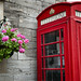 Flowers & An Old Telephone Box, UK
