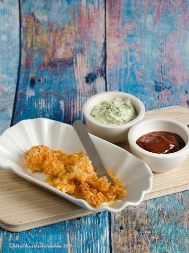 Im Bierteig frittierte Cheese Curds mit Kohlrabidip (1)