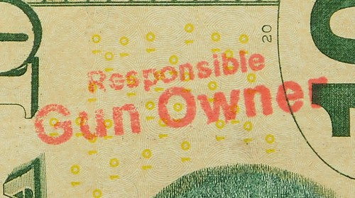 Responsible Gun Owner stamp